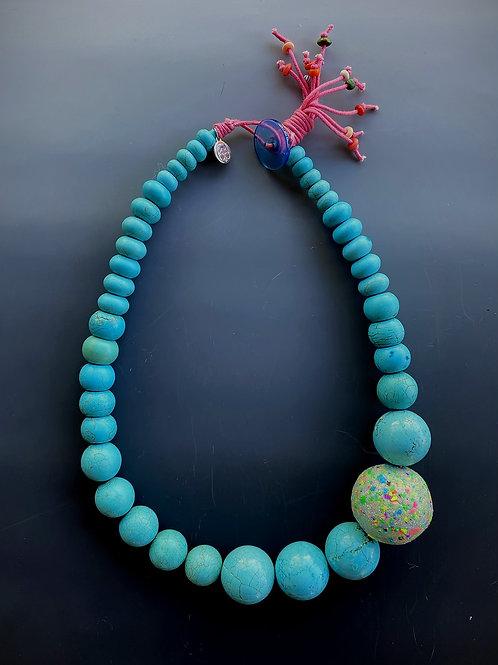 Turquoise Magnesite Statement Necklace