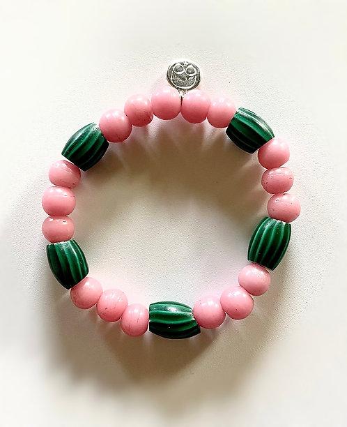1890 Watermelon Chevron Bracelet