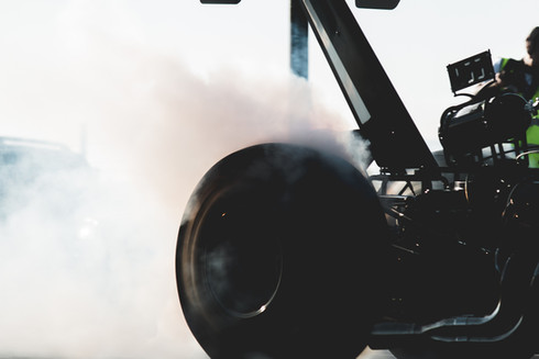 Dragster taking off