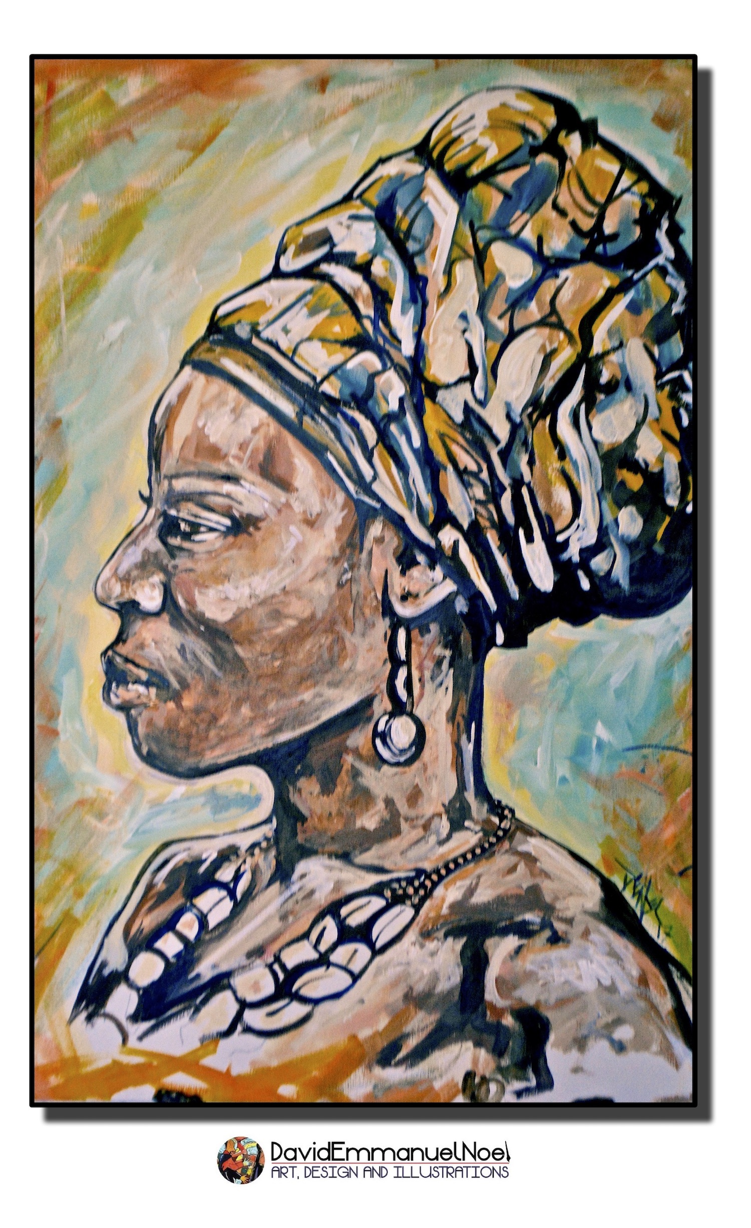 Woman with headwrap..