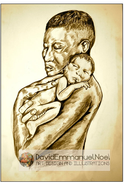 Man and Baby - gift card