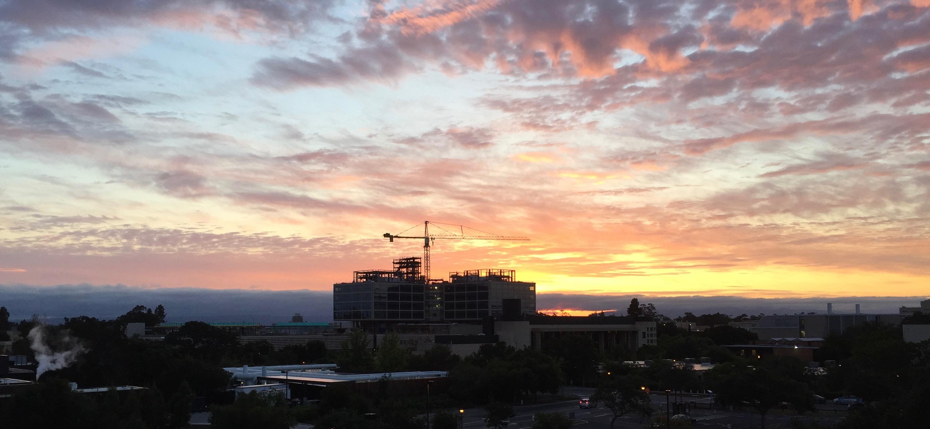 New Stanford Hospital at Sunrise