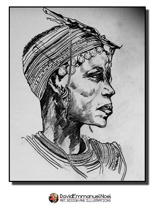 Masai (3) Pencil Drawing Gift Card