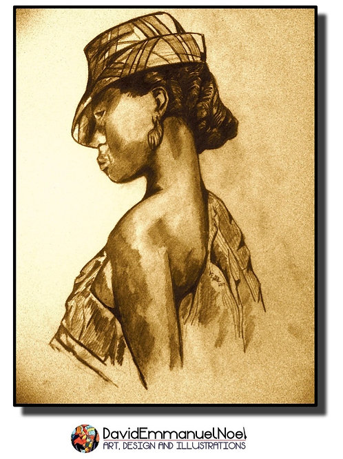 Woman with Hat - Limited Print