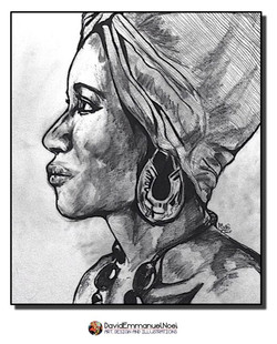 Woman with head wrap
