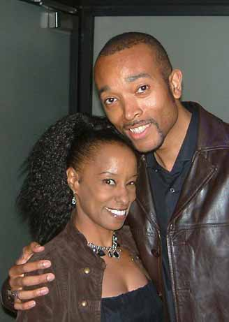 David with singer Martine Girault at a A