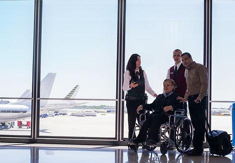SSR/PRM wheelchair pushing service