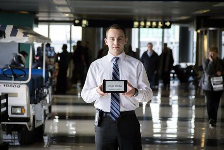 whiteboard tablet passenger's name