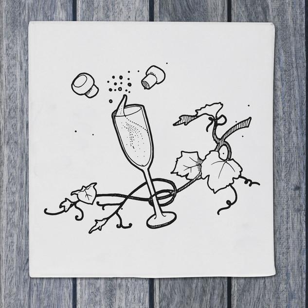 Illustration - prosecco - DePizzabakkers menu