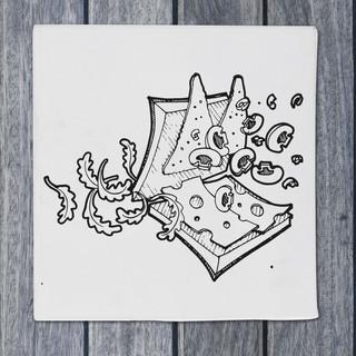 Illustration - panini - DePizzabakkers menu