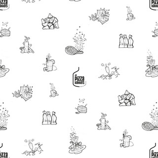 pattern with illustrations