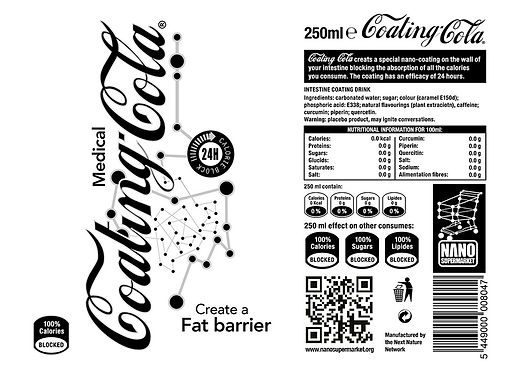 Coating Cola label template