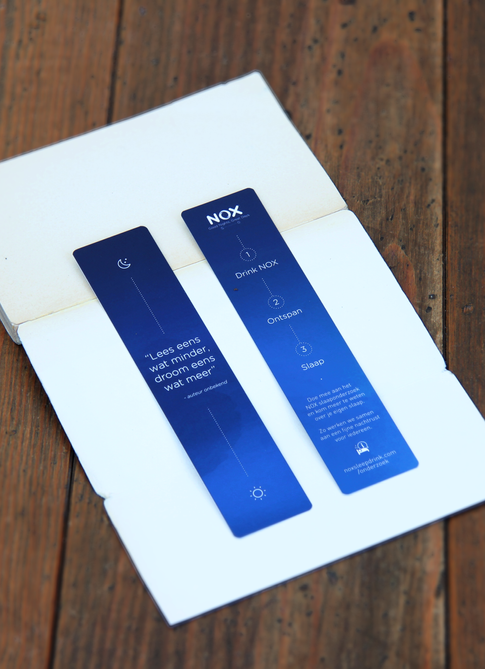 NOX Sleep Drink - stationary - bookmarks flyers