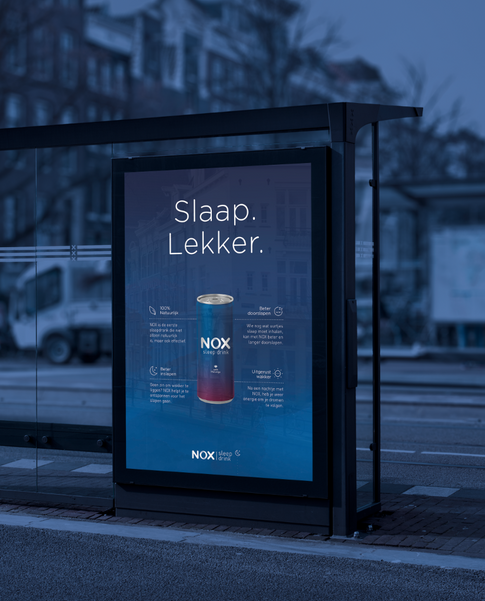 NOX Sleep Drink - advert poster