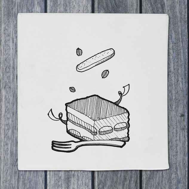 Illustration - tiramisu - DePizzabakkers menu