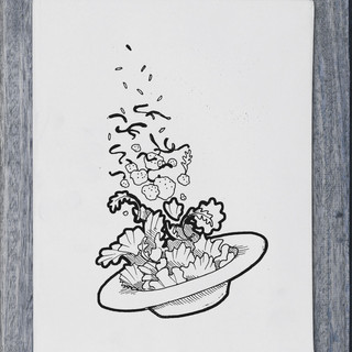 Illustration - salad - DePizzabakkers menu