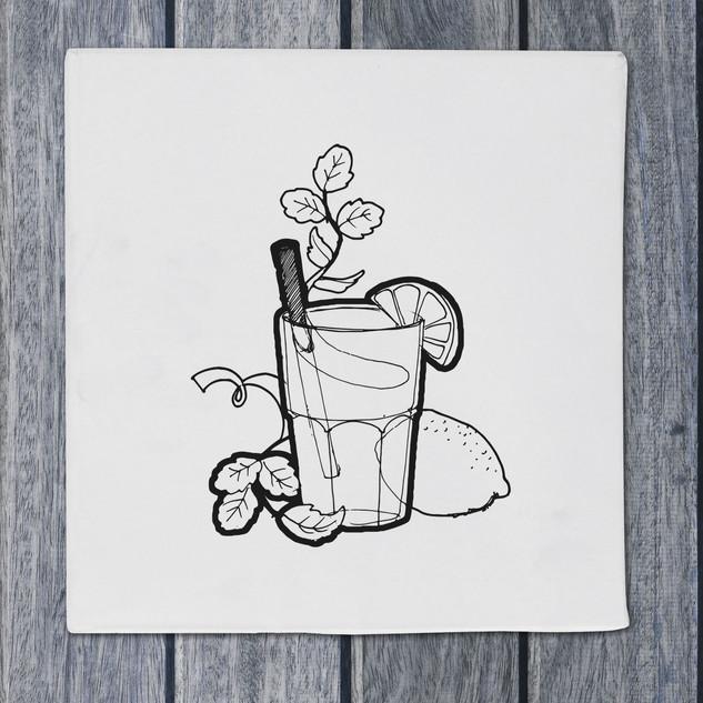 Illustration - cocktail - DePizzabakkers menu