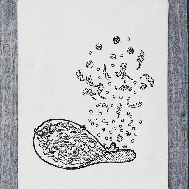 Illustration - pizza - DePizzabakkers menu