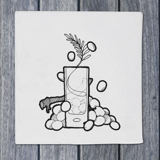 Illustration - grappa - DePizzabakkers menu