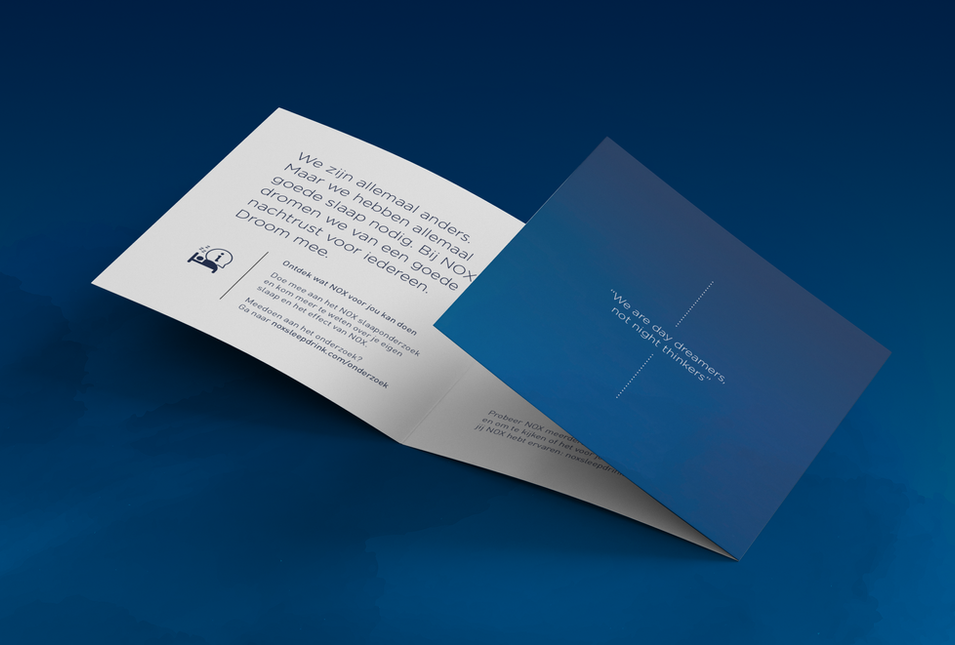 NOX Sleep Drink - stationary - brochure