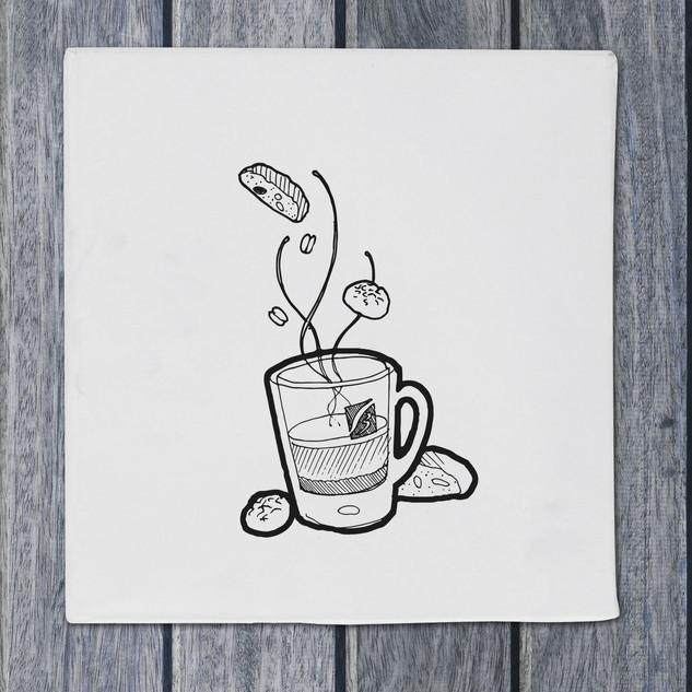 Illustration - coffee - DePizzabakkers menu