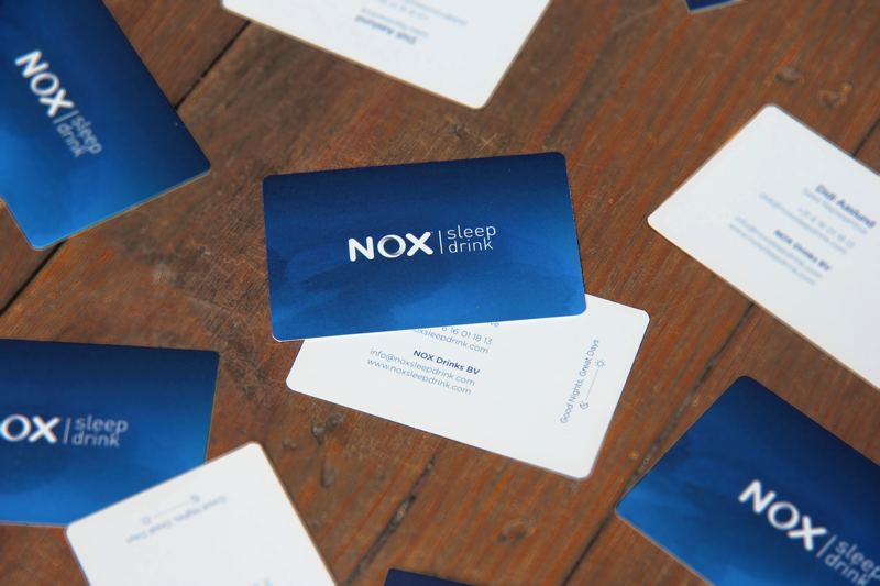 NOX Sleep Drink - stationary - business cards