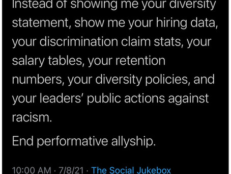 Let's Talk about Performative Allyship