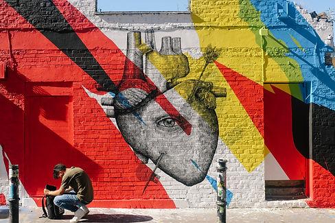 Colorful Graffiti Brick Wall