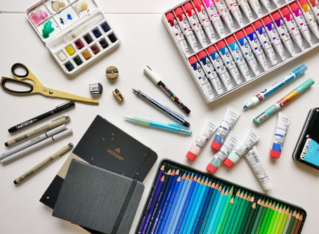 My 9 most favorite art materials in one blog