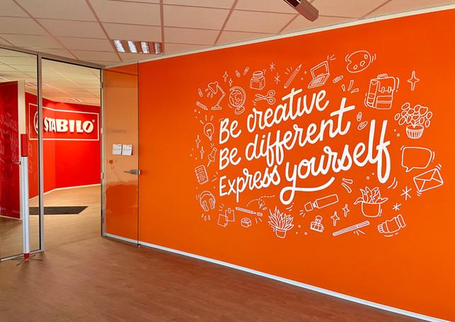 Mural Stabilo office