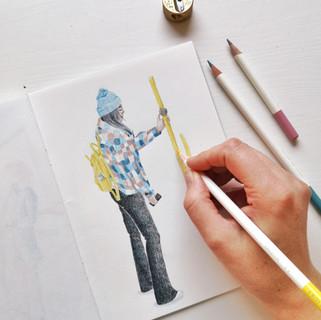 Tombow Irojiten pencils_illustration Nie