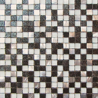 "ALU-MOSAIC-009/ MOSAÏQUE  5/8"" x 5/8"" --pied carré"