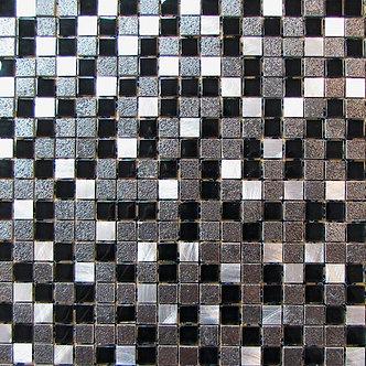 "ALU-MOSAIC-007/ MOSAÏQUE  5/8"" x 5/8"" --pied carré"