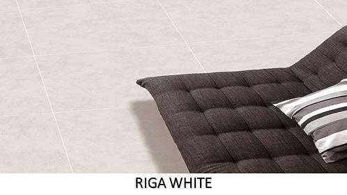 """RIGA WHITE /  24"""" x 24""""  --  pied carré"""