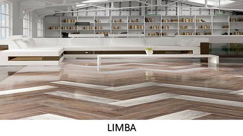 "LIMBA /  6.25"" x 25.5""  --  pied carré"