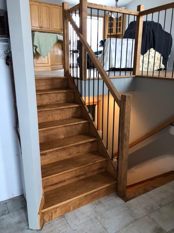 Escalier sablé et huilé