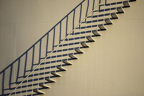 L'escalier droit