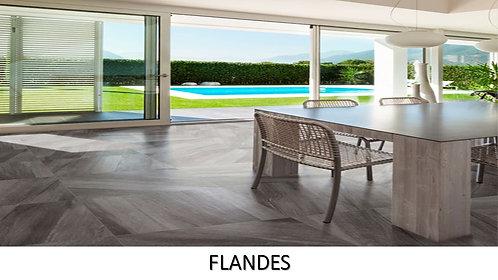 """FLANDES GRIS/  24"""" X 24""""  --  pied carré"""