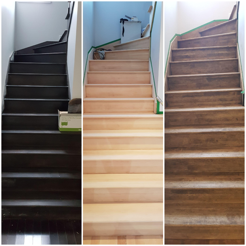 Escalier sabler et huilé Bona