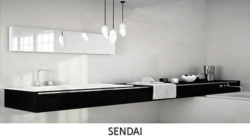 """SENDAI /  11.5"""" X 35.5""""  --  pied carré"""
