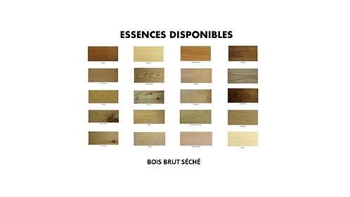 BOIS BRUT  /  ESSENCES /  Partie 3
