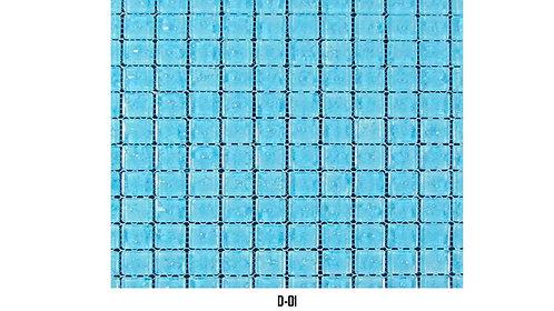 """D  /  MOSAÏQUE  1"""" x 1""""  --  pied carré"""