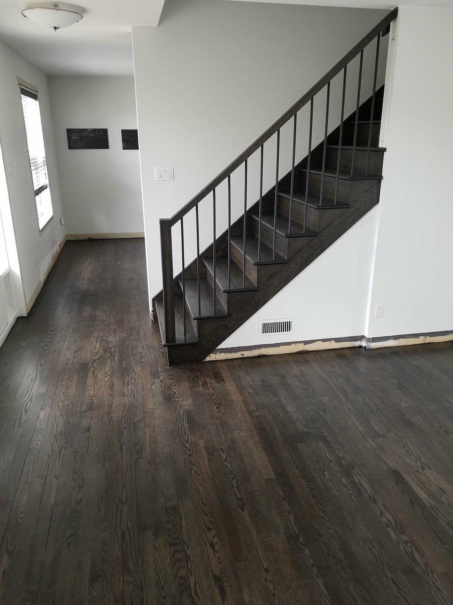 Escalier et plancher en chêne