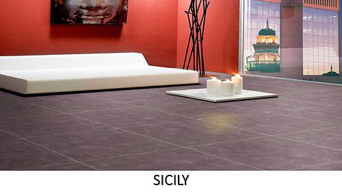 "SICILY /  13"" x 24""  --  pied carré"