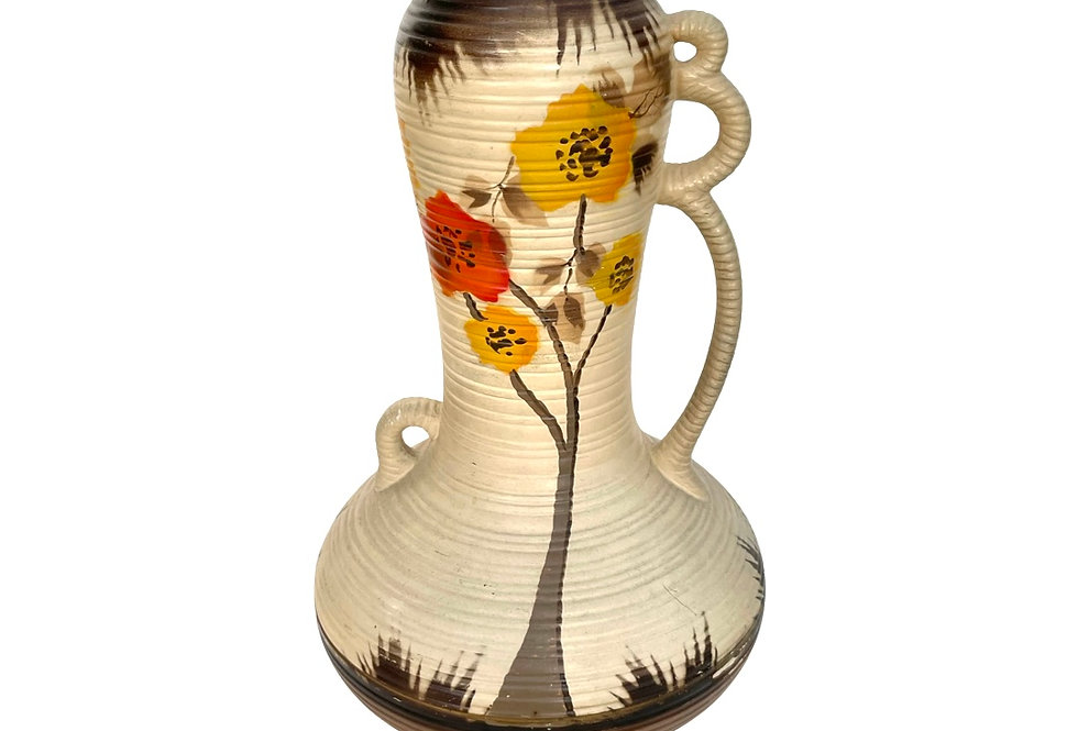 A beautiful big vintage Art Deco 'Sylvac' vase to be potted with succulents