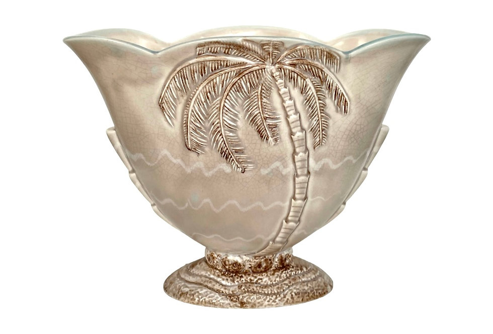 A stunning vintage 'Beswick' palm tree vase to be potted with succulents