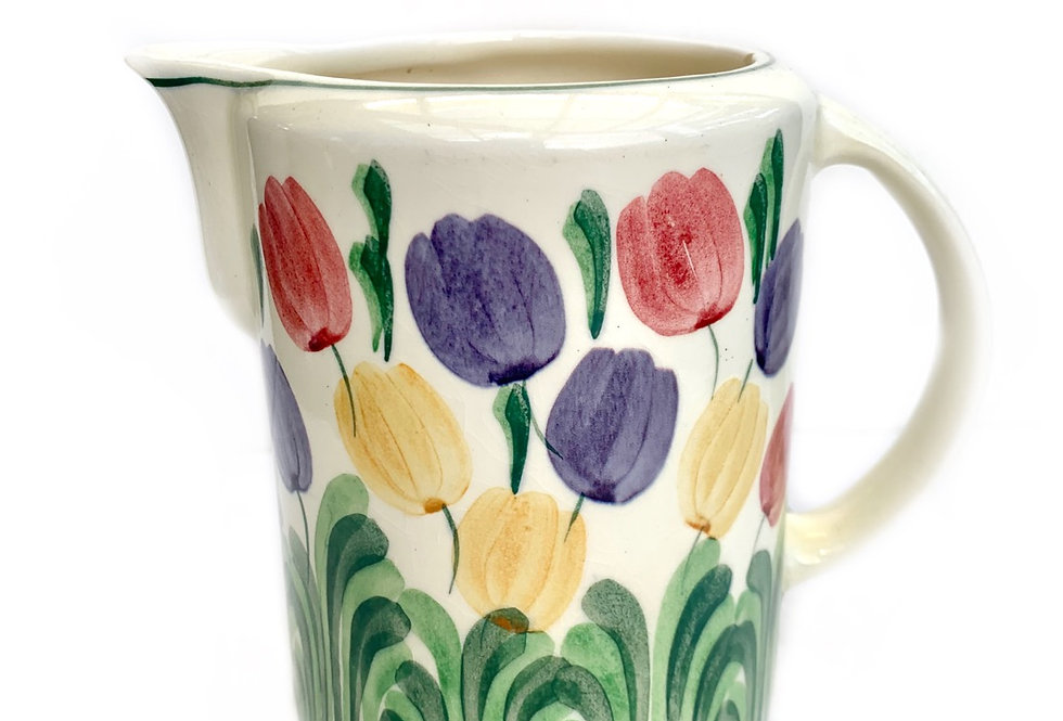 A bright colourful vintage 'Bristol' jug with tulip design