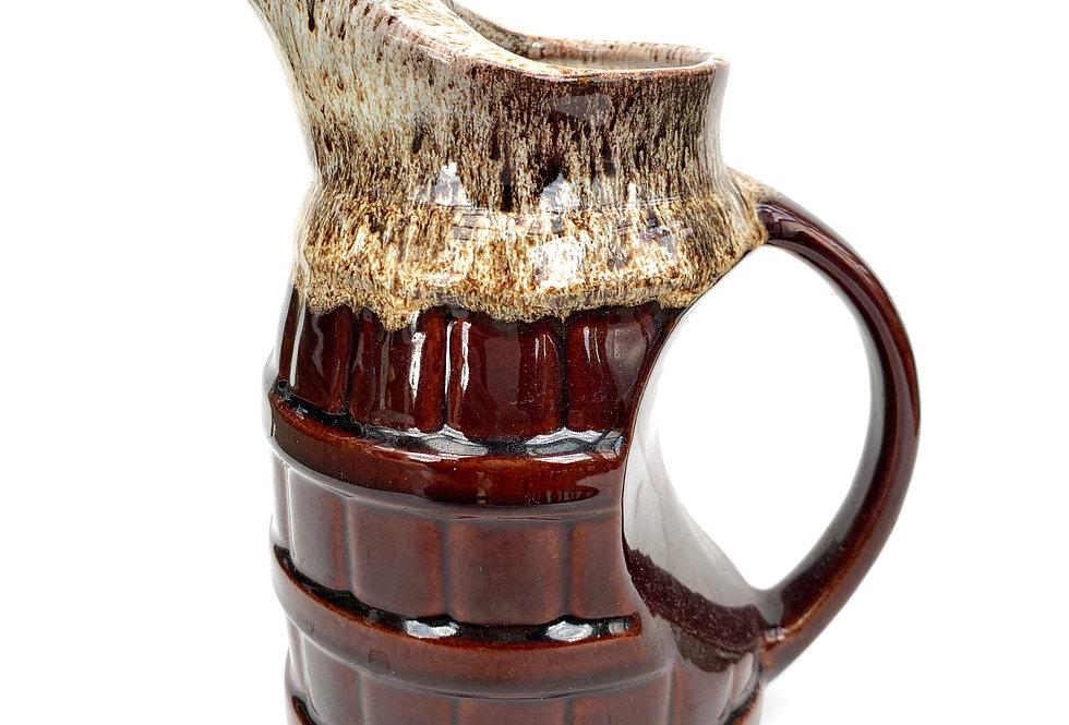 A barrel design NZ 'Adelaar' pottery glazed jug