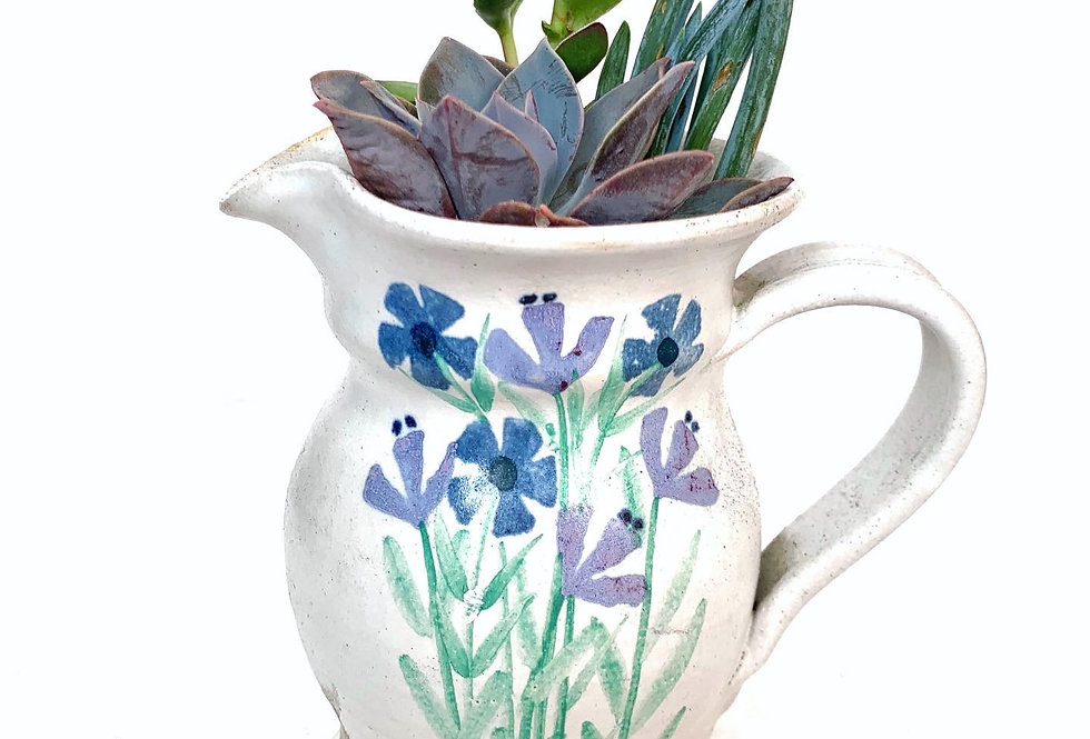 Purple & Blue flower design jug