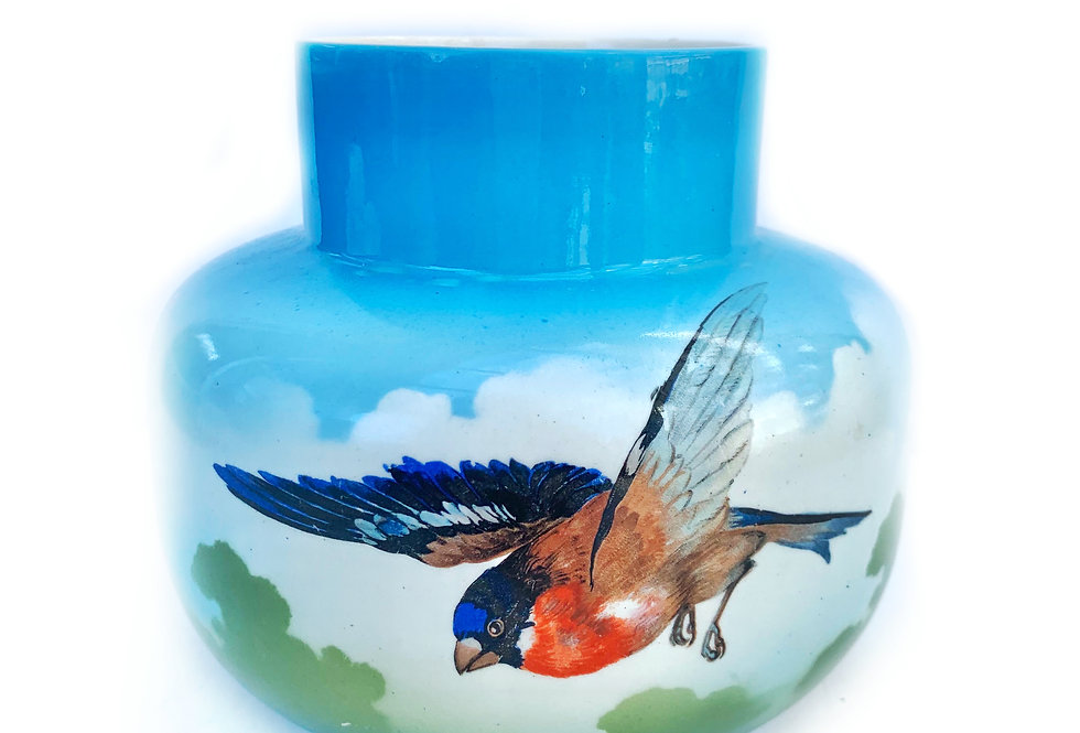 "Stunning vinatge ""Falconware' vase with birds in flight design"